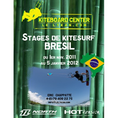 Cours de kite au Brésil     Frs 900.- la semaine        Le LYKAN kiteshool